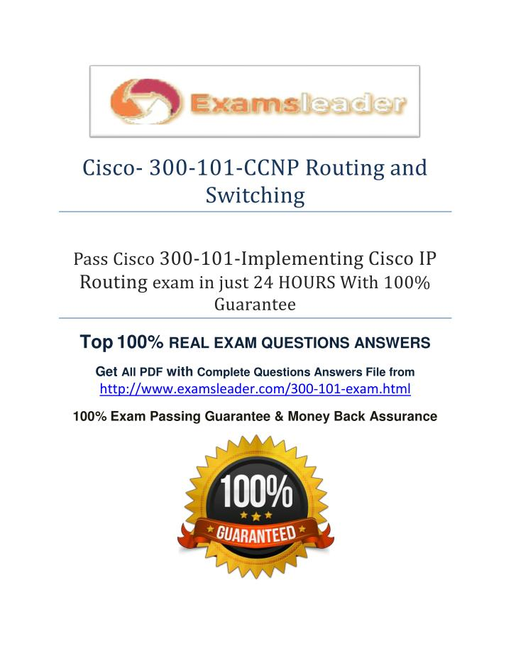 Cisco- 300-101-CCNP Routing and