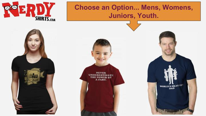 Choose an Option... Mens, Womens,