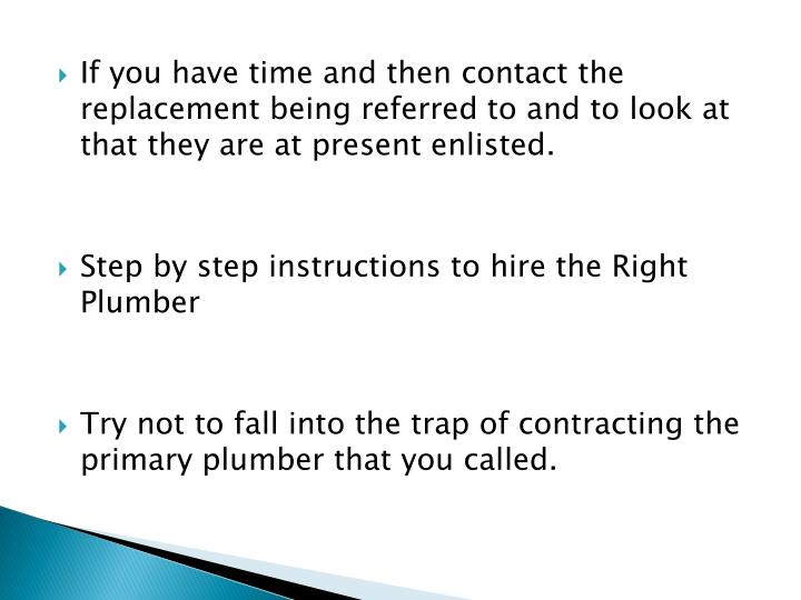 how to find the best plumber