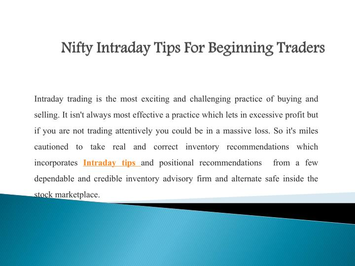 Best nifty options trading tips