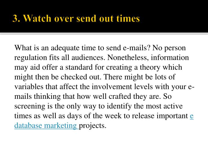 What is an adequate time to send e-mails? No person