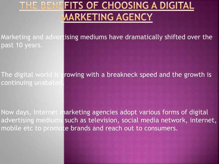 The benefits of choosing a digital marketing agency