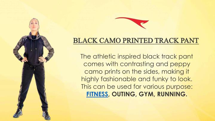 BLACK CAMO PRINTED TRACK PANT