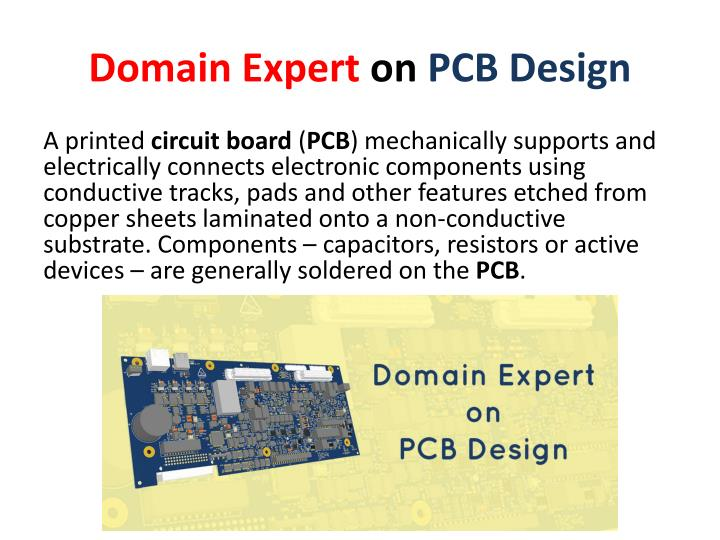 Domain expert on pcb design