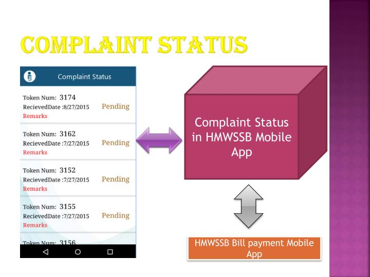 Complaint status