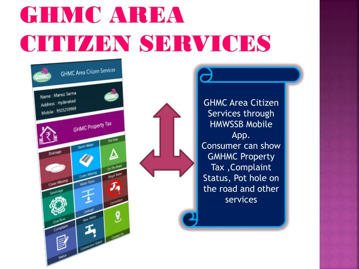 GHMC Area citizen services