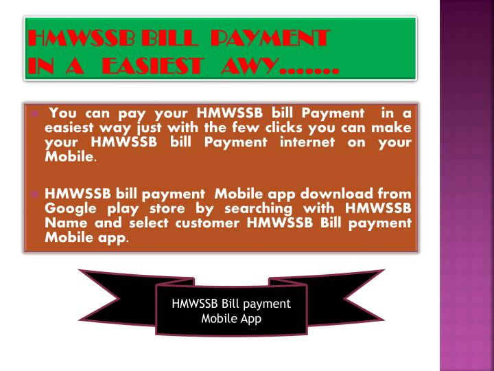 HMWSSB BILL  PAYMENT