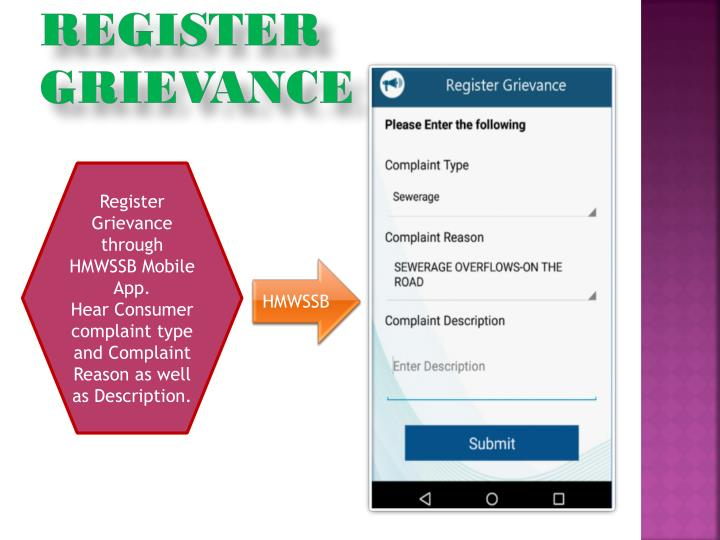 Register grievance