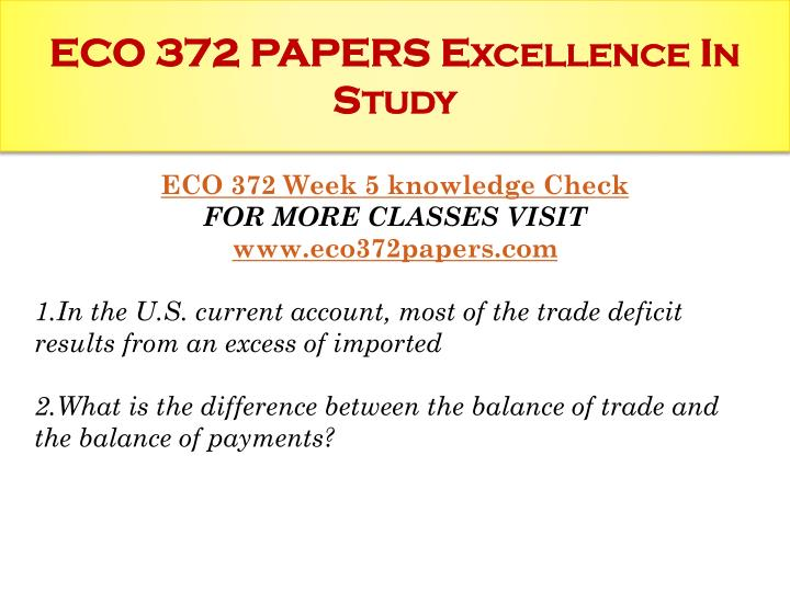 eco 372 supply chain and demand model Eco 372 week 2 learning team assignment weekly reflection economic forecasting paper essays   eco 372 complete  supply and demand and the factors.