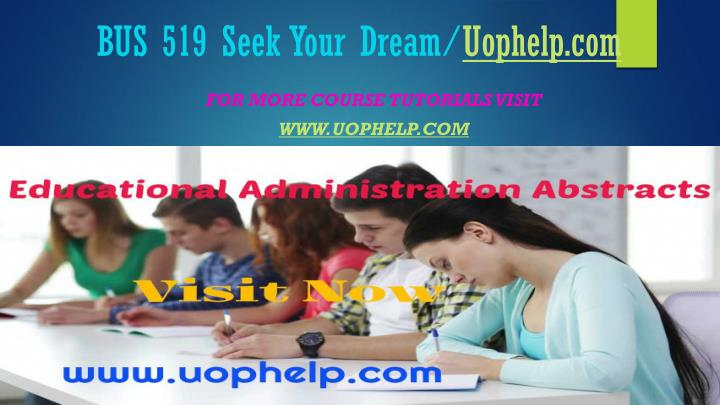 Bus 519 seek your dream uophelp com