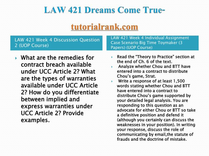 "law 421 theory to practice Read the ""theory to practice†section at the end of ch 6 of the text answer questions 1 through 6 based on the scenario in the ""theory to practiceâ."