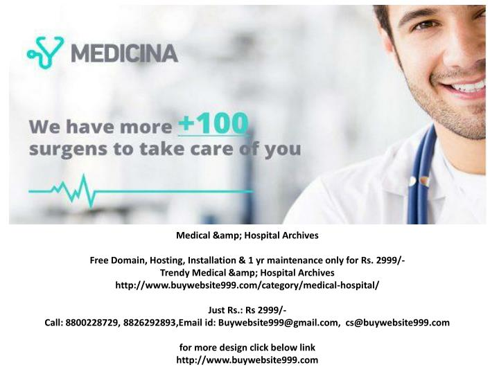 Medical & Hospital Archives