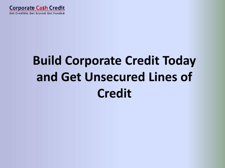 how to build corporate credit fast