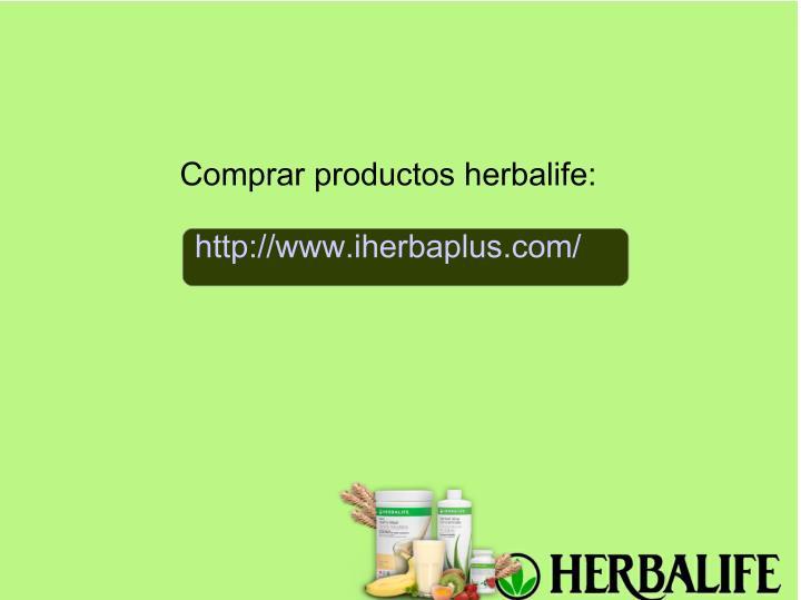 Comprar productos herbalife: