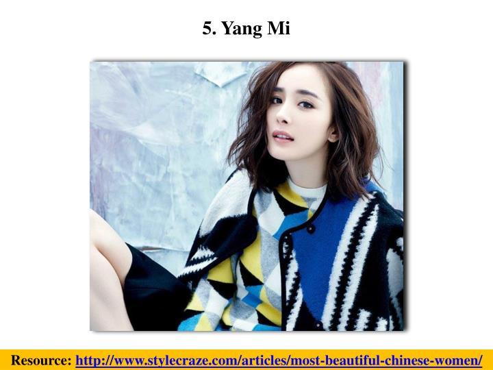 5. Yang Mi