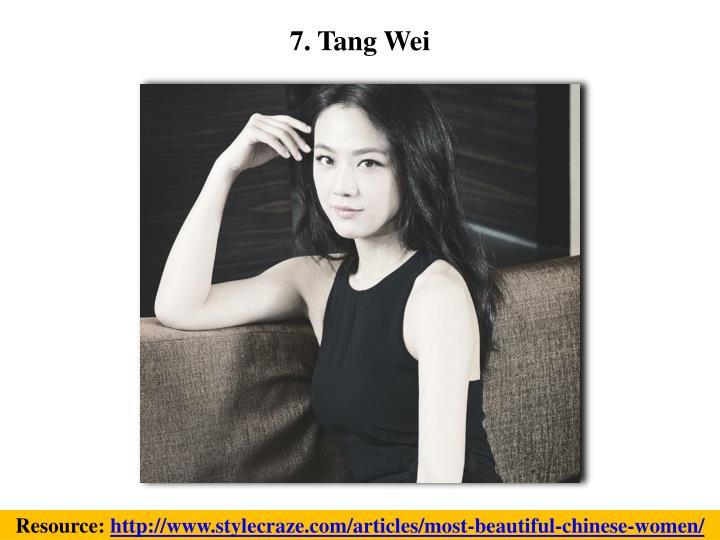 7. Tang Wei