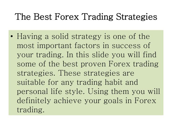 Trading strategies ppt