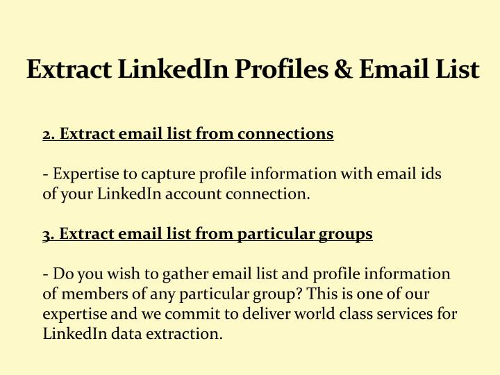 Extract LinkedIn Profiles & Email List