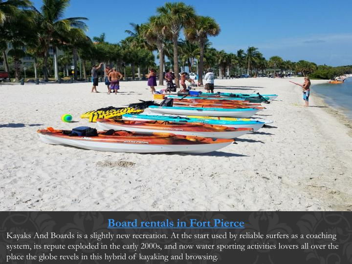 Board rentals in Fort Pierce