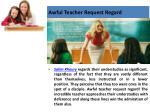 awful teacher request regard