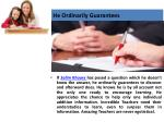 he ordinarily guarantees