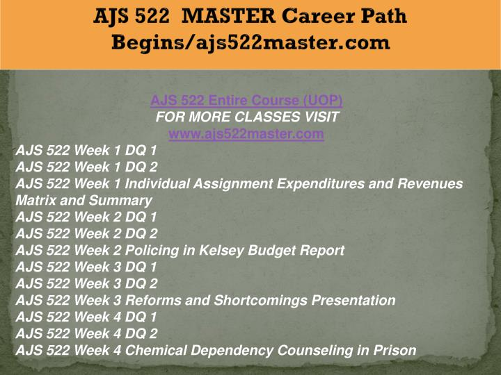 ajs 522 expenditures and revenue matrix Ajs 522 entire course for more course tutorials visit wwwtutorialoutletcom ajs 522 week 1 dq 1 ajs 522 week 1 dq 2 ajs 522 week 1 individual assignment expenditures and revenues matrix and summary.