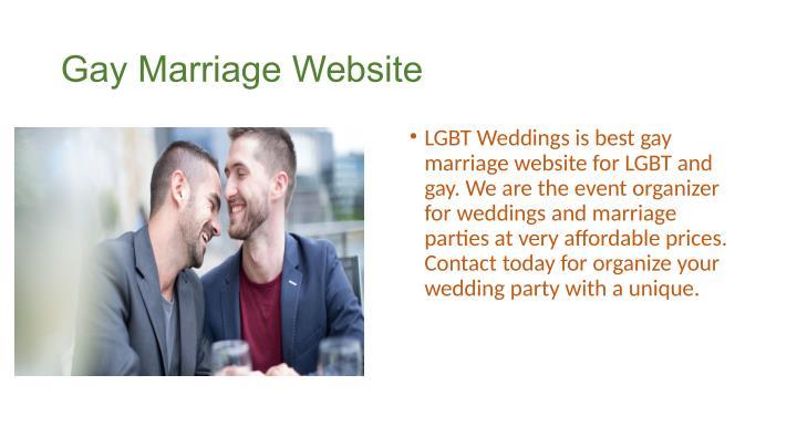 Gay Marriage Website 47