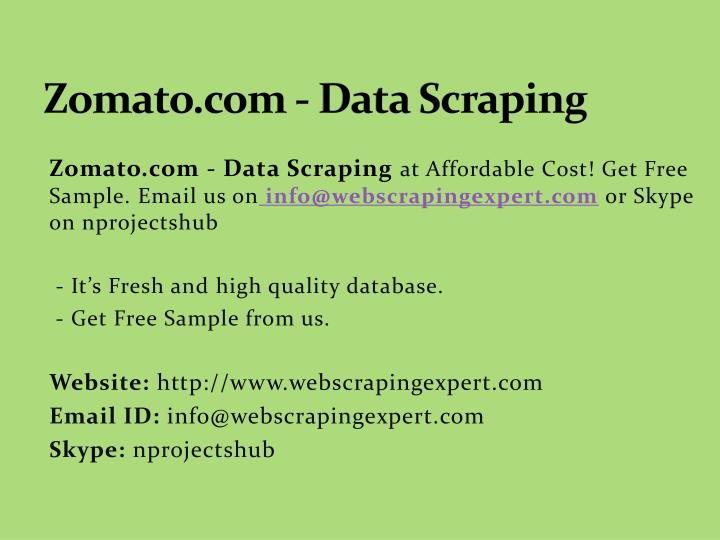 Zomato com data scraping