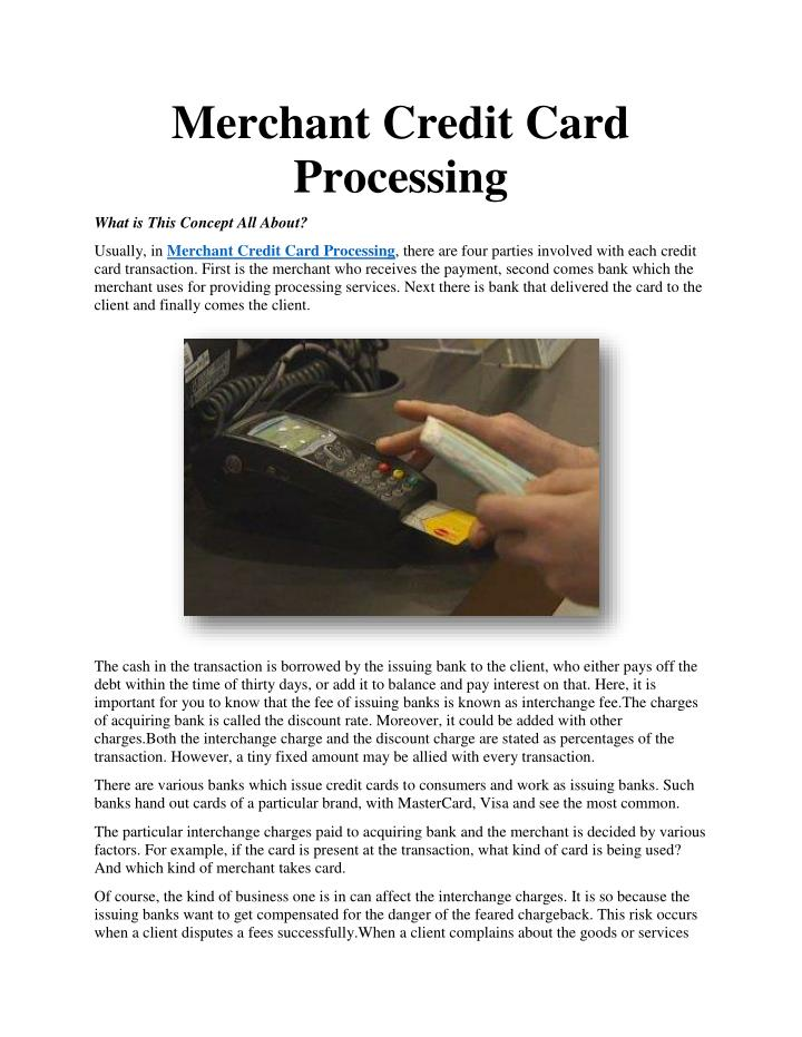 You will Account card credit merchant no processing adult