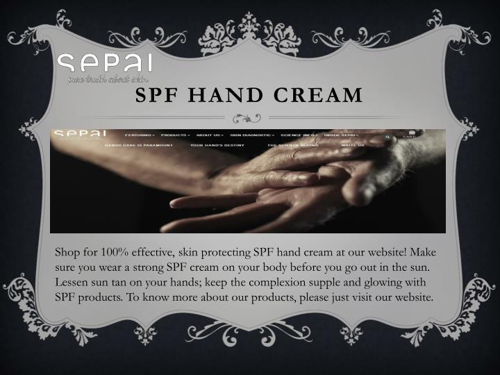 SPF Hand Cream