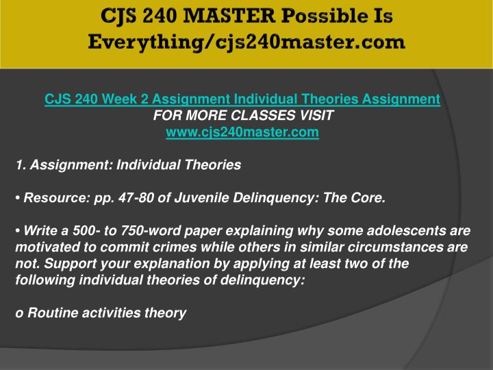CJS 240 MASTER Possible Is Everything/cjs240master.com