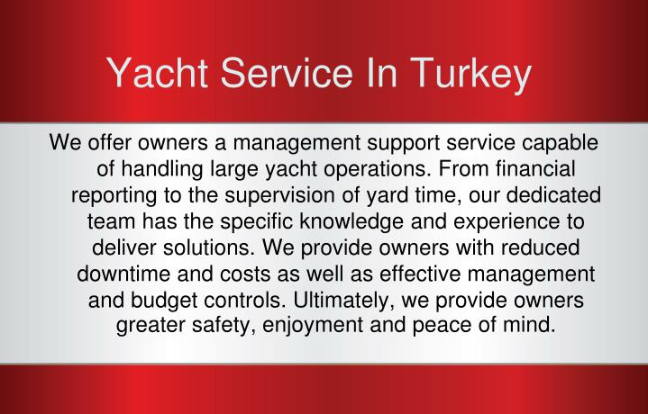 Yacht service in turkey