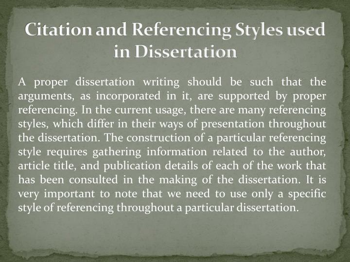 phd thesis citation style Apa (american psychological association) style theses theses in-text citation ph d thesis/dissertation: use the terminology used on the thesis itself.