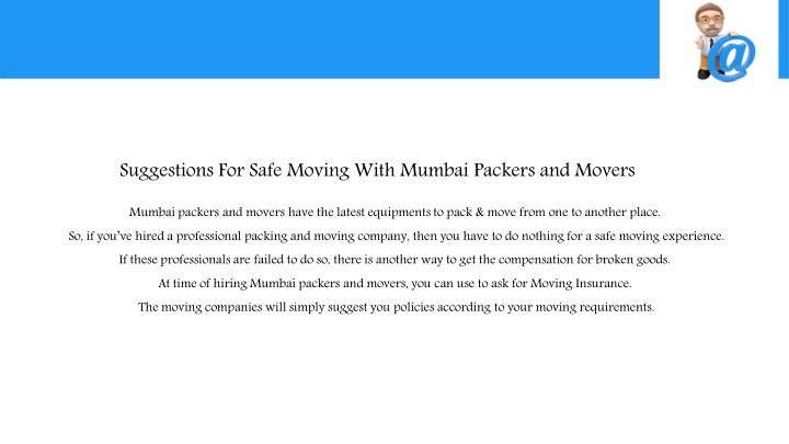 Suggestions For Safe Moving With Mumbai Packers and Movers