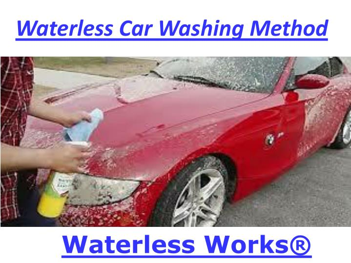 Waterless car washing method