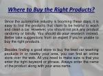 where to buy the right products