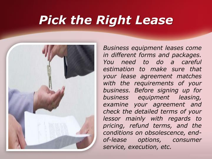 Equipment Leasing Business Plan