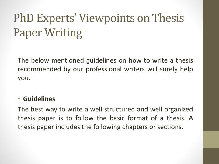 Thesis writing experts