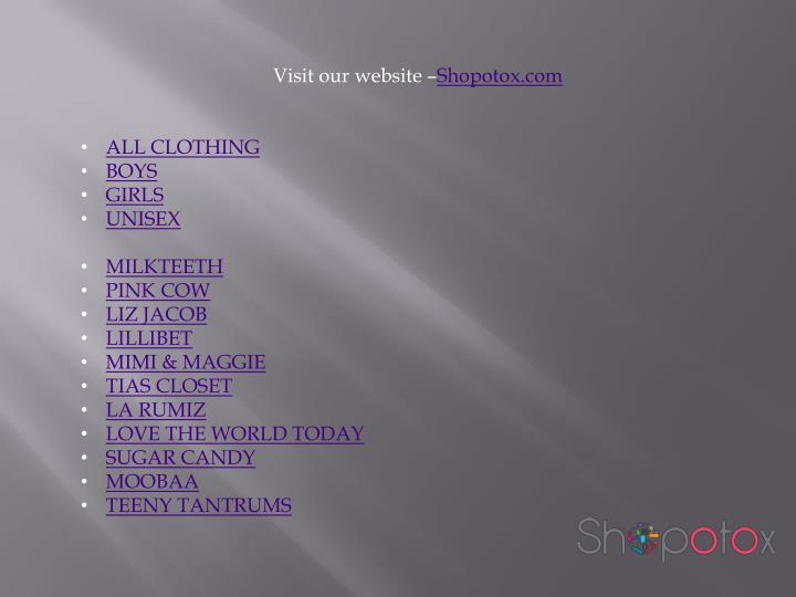 Visit our website –