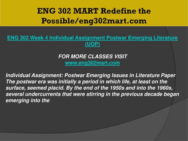 ENG 302 MART Redefine the Possible/eng302mart.com