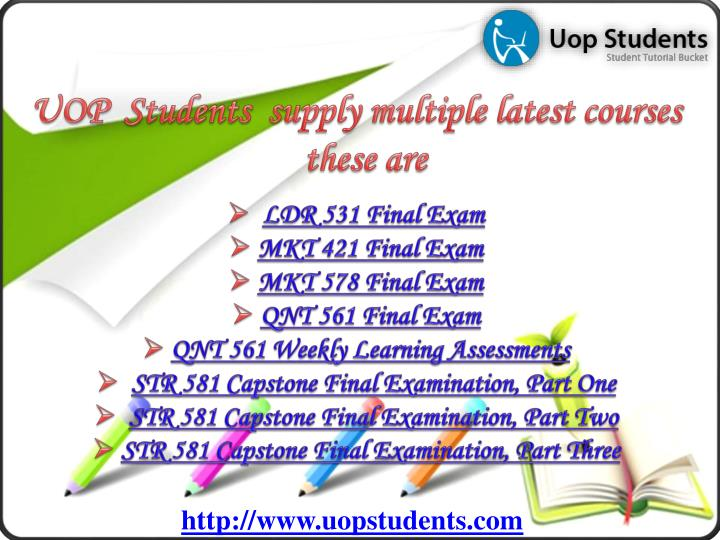 UOP  Students  supply multiple latest courses