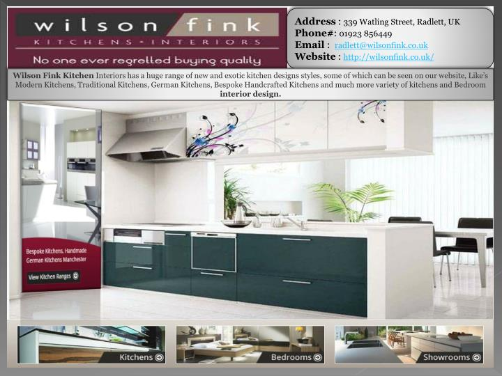 PPT German Kitchens Company London By Wilson Fink