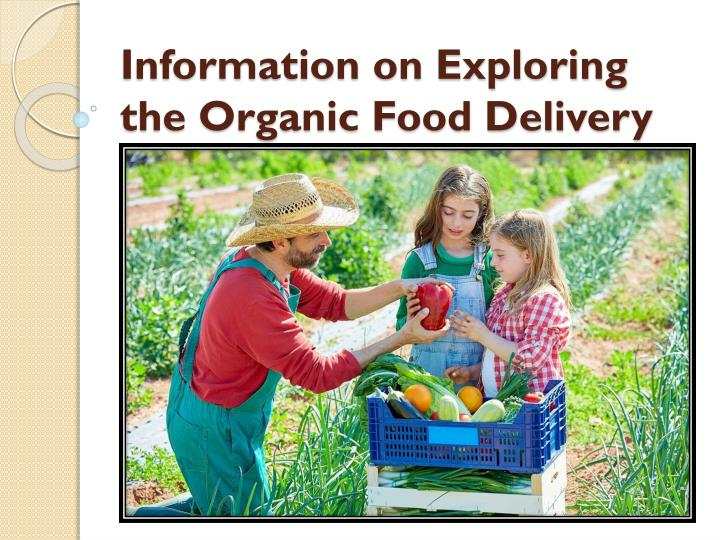 Information on exploring the organic food delivery