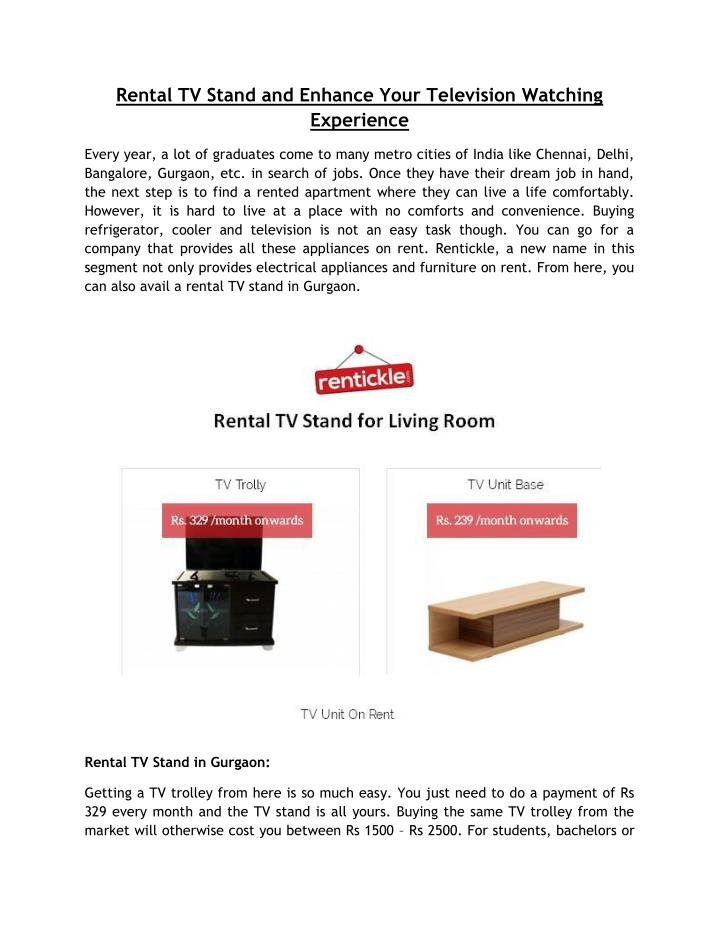 Rental TV Stand and Enhance Your Television Watching