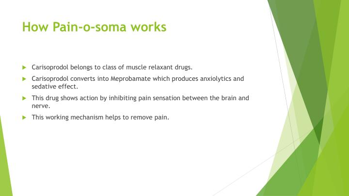 how does soma work on pain kahlil