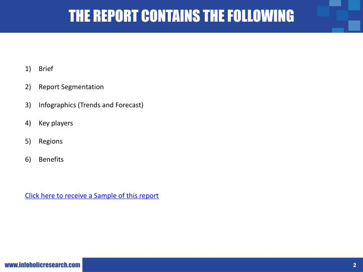 THE REPORT CONTAINS THE FOLLOWING