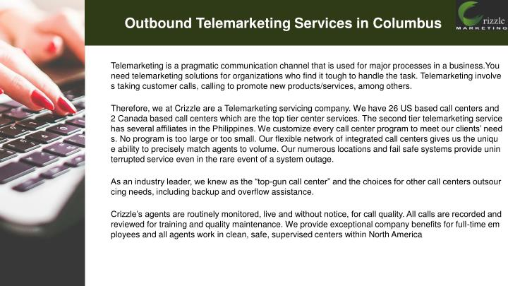 Outbound telemarketing services in columbus