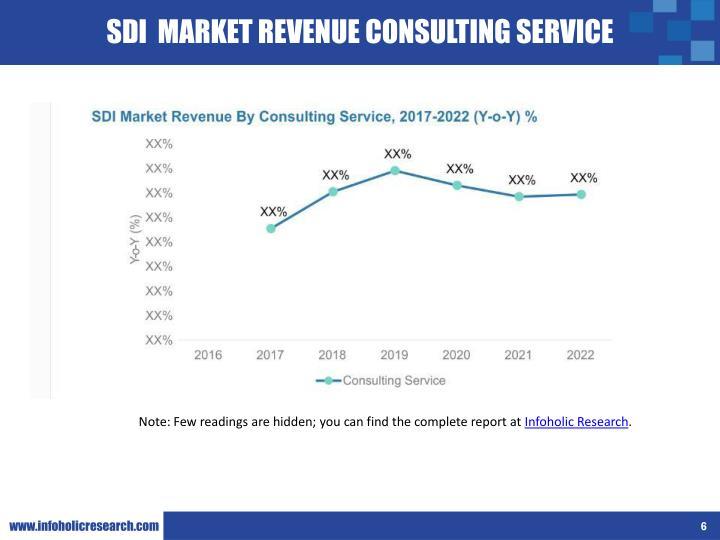 SDI  MARKET REVENUE CONSULTING SERVICE