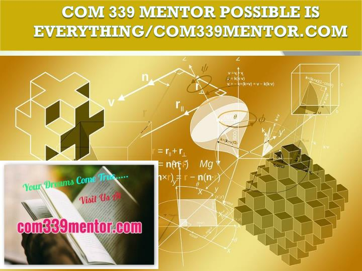 Com 339 mentor possible is everything com339mentor com