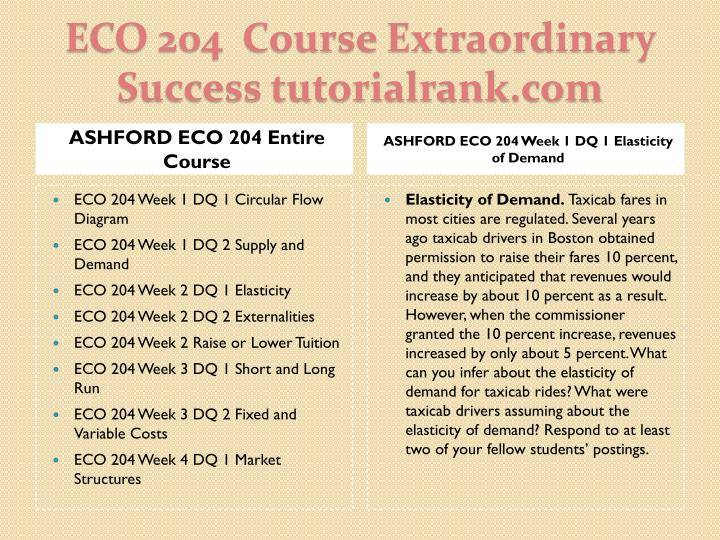 Eco 204 course extraordinary success tutorialrank com1